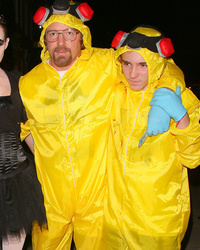 "Guy Ritchie & Rocco Go As ""Breaking Bad"" For Halloween"