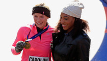 Caroline Wozniacki -- Crushes NFL & NBA Players ... 26.2 Miles at a Time