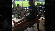 NFL Star James Harrison -- Bangs Out Push Ups ... With 300 lb. Man On His Back!!