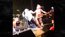 NOFX Singer Fat Mike -- Takes Down Fan ... One Punch, One Kick  (VIDEO)