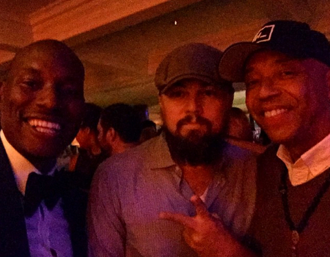 Tyrese, Leonardo DiCaprio, and Russell Simmons at Soho House for LDC's Birthday