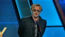 Johnny Depp -- BOMBED at Awards Show ... In More Ways Than One