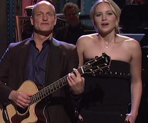 """""""The Hunger Games"""" Cast Crashes Woody Harrelson's """"SNL"""" Monologue"""