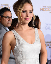 "Jennifer Lawrence and Jessica Simpson Shine at ""Hunger Games: Mockingjay -- Part 1"" Premiere"