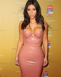 Kim Kardashian Goes Nude Again, This Time on the Red Carpet!