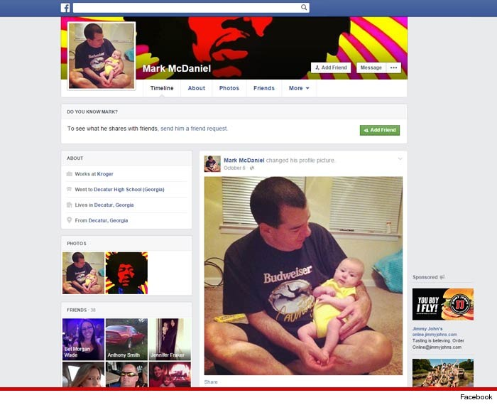 Mark McDaniel Facebook Profile Deleted