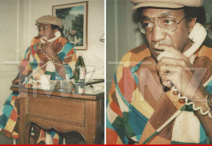 Bill Cosby — Polaroid of Robed Cosby Before Alleged Janice Dickinson Rape