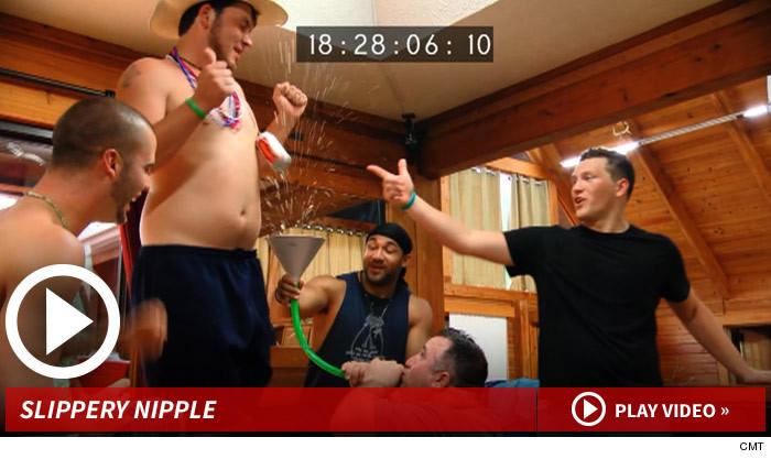 Redneck Island Nipple Ring Beer Bong