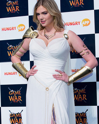"Kate Upton Channels Her Inner Goddess In Her ""Game Of War"" Costume"