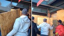 NFL Legend Aeneas Williams -- CLEANING UP FERGUSON ... Boarding Up Windows