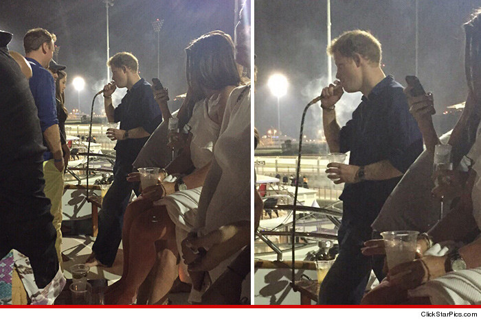 Prince Harry Smoking Hookah