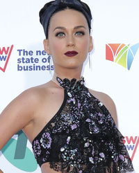 Katy Perry Goes Without Underwear in Sheer Floral Skirt -- See Sexy Pi