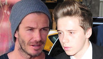 David Beckham -- Involved in Car Crash ... After Picking Up Son