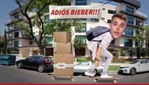 Justin Bieber -- Bev Hills Neighbors Rejoice ... Ding Dong, The Biebs Is Gone!