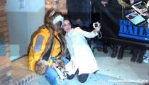 Angelina Jolie -- Rescues Fan from Crowd ... Then Snaps Selfies! (VIDEO)
