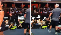 Elton John -- Topples Out of Chair ... AWKWARDLY Recovers (VIDEO)