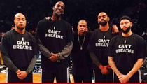Jay-Z, Kevin Garnett & LeBron -- 'I Can't Breathe Protest ... Before NBA Game