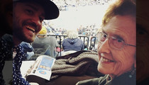 Justin Timberlake -- Grizzlies Good Luck Charm? MY GRANNY!