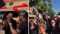 Boxer Andre Berto -- Led Mike Brown Protest ... With Tyrese