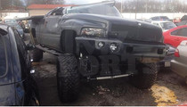 Cam Newton's Truck -- The Wreckage (PICS)