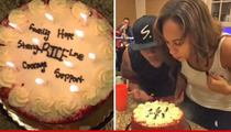 Ray & Janay Rice -- Fireball Shots & Card Games at Surprise Anniversary Party