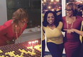 Gayle King -- Surprised by Oprah Winfrey ... Sooo Much Cake to Camera