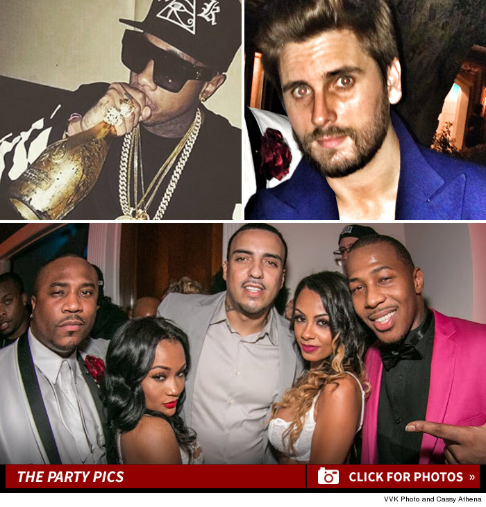 French Montana Tyga Scott Disick Partying Together