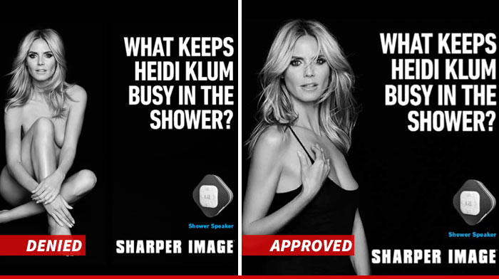 Heidi Klum Sharper Image Ads