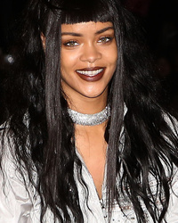 Rihanna Rocks Crazy Hair During Video Shoot in P