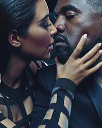 Kim Kardashian Intimately Embraces Kanye West In New Balmain Ads