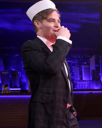 """Chris Pine and Jimmy Fallon Play """"Battleshots"""" -- And It's Hilarious!"""