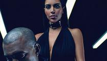 Kim Kardashian Flaunts Major Cleavage in Third Balmain Ad With Kanye West