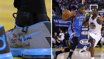 Kevin Durant -- Sneaker Tribute to Stuart Scott