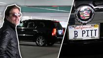 Brad Pitt -- Vanity Plate Fake Out Fools Photog ... TMZ TV
