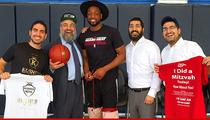 Dwyane Wade -- Quadruple Rabbi Blessing ... Before Beating Lakers