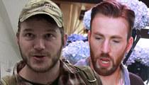 Chris Evan & Chris Pratt -- Superheroes Make Super Bowl Bet