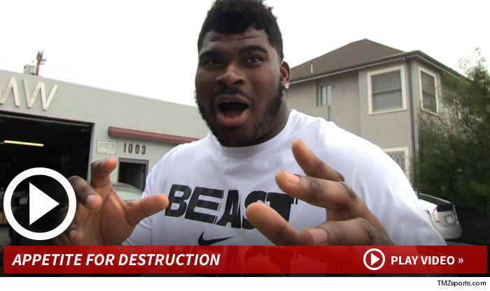 Chargers DJ Fluker Chicken Nuggets