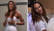 WNBA Stars Brittney Griner and Glory Johnson -- Say Yes to the Very, Very Tall Dress