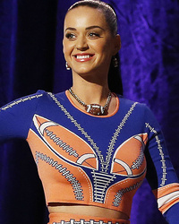Katy Perry Gets Sporty for Super Bowl Press Conference -- See Her Football-Inspired Look
