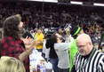 Mick Foley -- EJECTED FROM WING CONTEST .