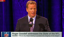 Roger Goodell to Marshawn Lynch -- QUIT YER BITCHIN' ... Media Day Is Part Of Your Job!