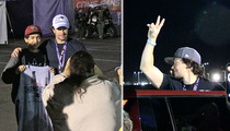 Mark Wahlberg -- Wicked Awesome Celebration ... Hey Kid, Take My Hat!