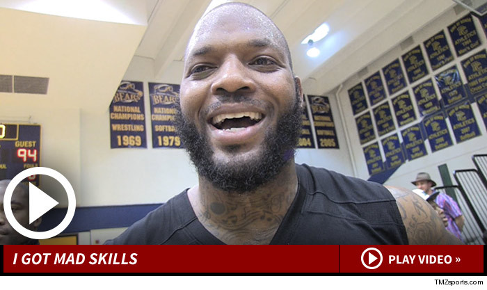... TMZ Sports he could be PUNISHING the NBA if he'd chosen the roundball