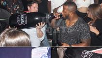 New England Pats -- Popped $12K Mega-Bottle ... At Victory Bash (PHOTOS)