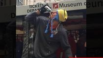 Rob Gronkowski -- CHUGGIN' BEER ... At Pats Super Bowl Parade