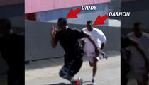 Diddy -- Beats NFL Speedster In Foot Race ... Only Cheats a Little