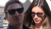 Jeremy Renner Responds to Divorce -- What's Your Problem? It's All Black and White