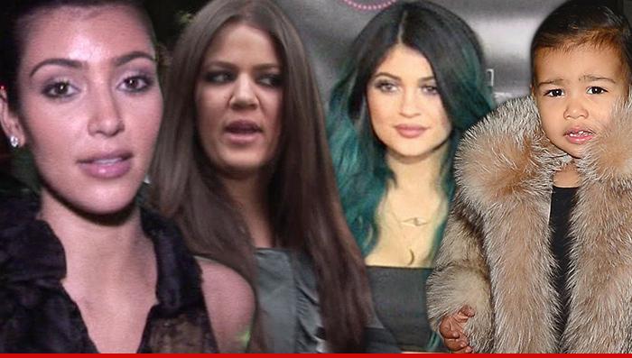 Kim kardashian north west kylie and khloe in car accident tmz com