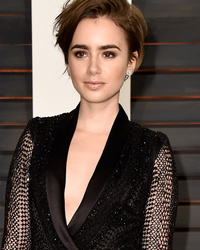 Lily Collins Debuts Pixie Cut at Vanity Fair Oscar Party -- Like the Look?