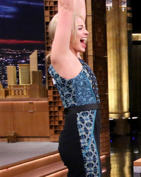 "Video: Margot Robbie Schools Jimmy Fallon in ""Flip Cup"""
